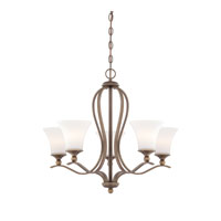 Sophia 5 Light 27 inch Palladian Bronze Chandelier Ceiling Light