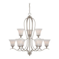 Sophia 9 Light 32 inch Brushed Nickel Foyer Chandelier Ceiling Light