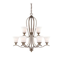 Sophia 9 Light 32 inch Palladian Bronze Foyer Chandelier Ceiling Light