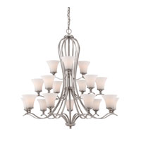 Quoizel Lighting Sophia 18 Light Chandelier in Brushed Nickel SPH5018BN