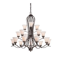 Quoizel Lighting Sophia 18 Light Chandelier in Palladian Bronze SPH5018PN