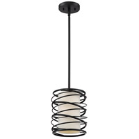 Spiral 1 Light 8 inch Mystic Black Mini Pendant Ceiling Light