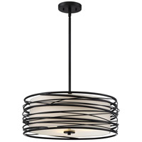 Spiral 3 Light 20 inch Mystic Black Pendant Ceiling Light