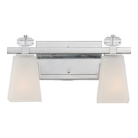 Supreme 2 Light 15 inch Polished Chrome Bath Light Wall Light in A19 Medium Base