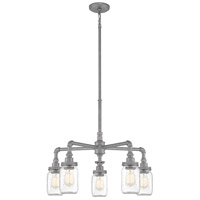 Quoizel SQR5005GV Squire 5 Light 26 inch Galvanized Chandelier Ceiling Light