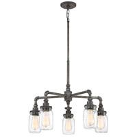Quoizel SQR5005RK Squire 5 Light 26 inch Rustic Black Chandelier Ceiling Light