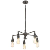 Quoizel SQR5005RK Squire 5 Light 26 inch Rustic Black Chandelier Ceiling Light alternative photo thumbnail