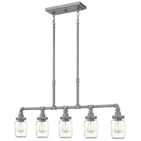 Quoizel SQR538GV Squire 5 Light 38 inch Galvanized Island Chandelier Ceiling Light