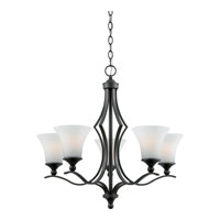 Quoizel Lighting Sarah 5 Light Chandelier in Iron Gate SR5005IN