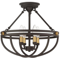 Quoizel SRG1716WT Sergeant 4 Light 16 inch Western Bronze Semi-Flush Mount Ceiling Light