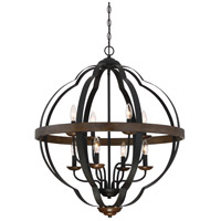 Quoizel SRN5208MK Siren 8 Light 28 inch Marcado Black Foyer Pendant Ceiling Light