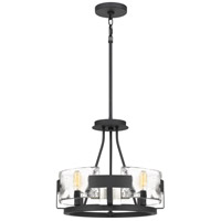 Quoizel STM1716BA Stratum 4 Light 16 inch Royal Ebony Semi-Flush Mount Ceiling Light
