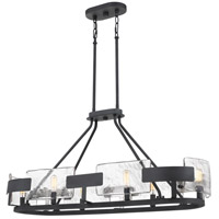 Quoizel STM638BA Stratum 6 Light 38 inch Royal Ebony Island Chandelier Ceiling Light