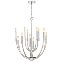 Quoizel STN5012PK Strand 12 Light 27 inch Polished Nickel Chandelier Ceiling Light