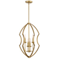 Stately 4 Light 17 inch Weathered Brass Foyer Chandelier Ceiling Light