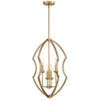 Quoizel STT5204WS Stately 4 Light 17 inch Weathered Brass Foyer Chandelier Ceiling Light