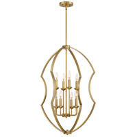 Stately 8 Light 22 inch Weathered Brass Foyer Chandelier Ceiling Light