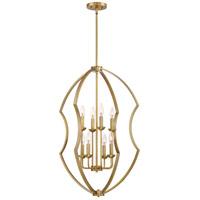 Quoizel STT5208WS Stately 8 Light 22 inch Weathered Brass Foyer Chandelier Ceiling Light