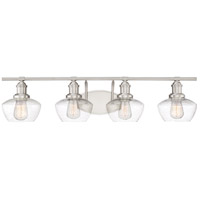 Stillwater 4 Light 33 inch Brushed Nickel Bath Light Wall Light