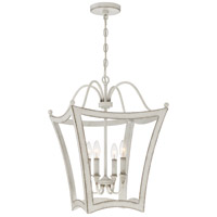 Quoizel SUM5216AWH Summerford 4 Light 16 inch Antique White Foyer Pendant Ceiling Light