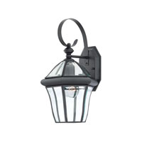 Quoizel Lighting Sussex 1 Light Outdoor Wall Lantern in Mystic Black SX8409K