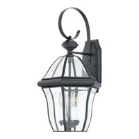 Quoizel Lighting Sussex 3 Light Outdoor Wall Lantern in Mystic Black SX8411K alternative photo thumbnail