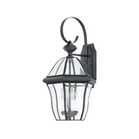 Quoizel Lighting Sussex 3 Light Outdoor Wall Lantern in Mystic Black SX8411K