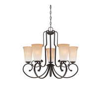 Quoizel Lighting Symphony 5 Light Chandelier in Old Bronze SYM5005OZ
