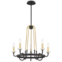 Quoizel TAN5025WT Tanner 5 Light 25 inch Western Bronze Chandelier Ceiling Light