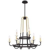 Quoizel TAN5031WT Tanner 9 Light 31 inch Western Bronze Chandelier Ceiling Light