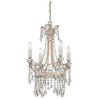 Quoizel TCA5004VP Tricia 4 Light 21 inch Vintage Silver Chandelier Ceiling Light