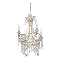 Quoizel Tricia 4 Light Chandelier in Vintage Silver TCA5004VP alternative photo thumbnail