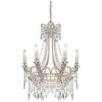 Quoizel TCA5006VP Tricia 6 Light 27 inch Vintage Silver Chandelier Ceiling Light