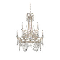 Quoizel Lighting Tricia 9 Light Chandelier in Vintage Silver TCA5009VP