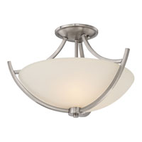Quoizel Lighting Tucker 3 Light Semi-Flush Mount in Brushed Nickel TCR1718BN alternative photo thumbnail