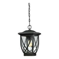 Quoizel Tudor 1 Light Outdoor Hanging Lantern in Mystic Black TDR1909KFL