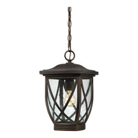 Tudor 1 Light 10 inch Palladian Bronze Outdoor Hanging Lantern