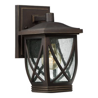 Quoizel Tudor 1 Light Outdoor Wall Lantern in Palladian Bronze TDR8406PNFL