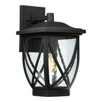 Quoizel Tudor 1 Light Outdoor Wall Lantern in Mystic Black TDR8409K