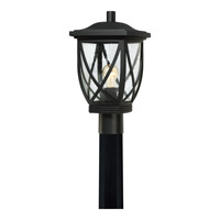 Quoizel Tudor 1 Light Outdoor Post Lantern in Mystic Black TDR9009K