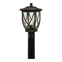 Tudor 1 Light 16 inch Palladian Bronze Outdoor Post Lantern in Standard