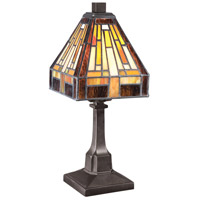 Stephen 12 inch 25 watt Vintage Bronze Table Lamp Portable Light, Naturals