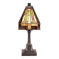 Stephen 12 inch 25 watt Vintage Bronze Table Lamp Portable Light