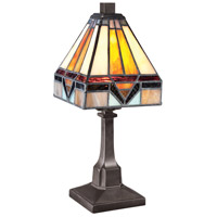 Tiffany 12 inch 25 watt Vintage Bronze Table Lamp Portable Light, Naturals