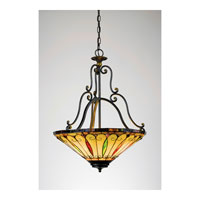 Quoizel Lighting Tiffany 3 Light Pendant in Imperial Bronze TF1039IB alternative photo thumbnail