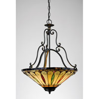 Quoizel Lighting Tiffany 3 Light Pendant in Imperial Bronze TF1039IB