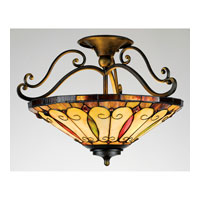 Quoizel Lighting Tiffany 3 Light Semi-Flush Mount in Imperial Bronze TF1040IB alternative photo thumbnail