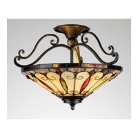 Quoizel Lighting Tiffany 3 Light Semi-Flush Mount in Imperial Bronze TF1040IB