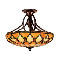Quoizel Lighting Tiffany 2 Light Semi-Flush Mount in Espresso TF1041EP