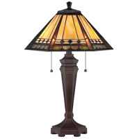 Quoizel TF1135T Arden 24 inch 60 watt Bronze Table Lamp Portable Light, Naturals